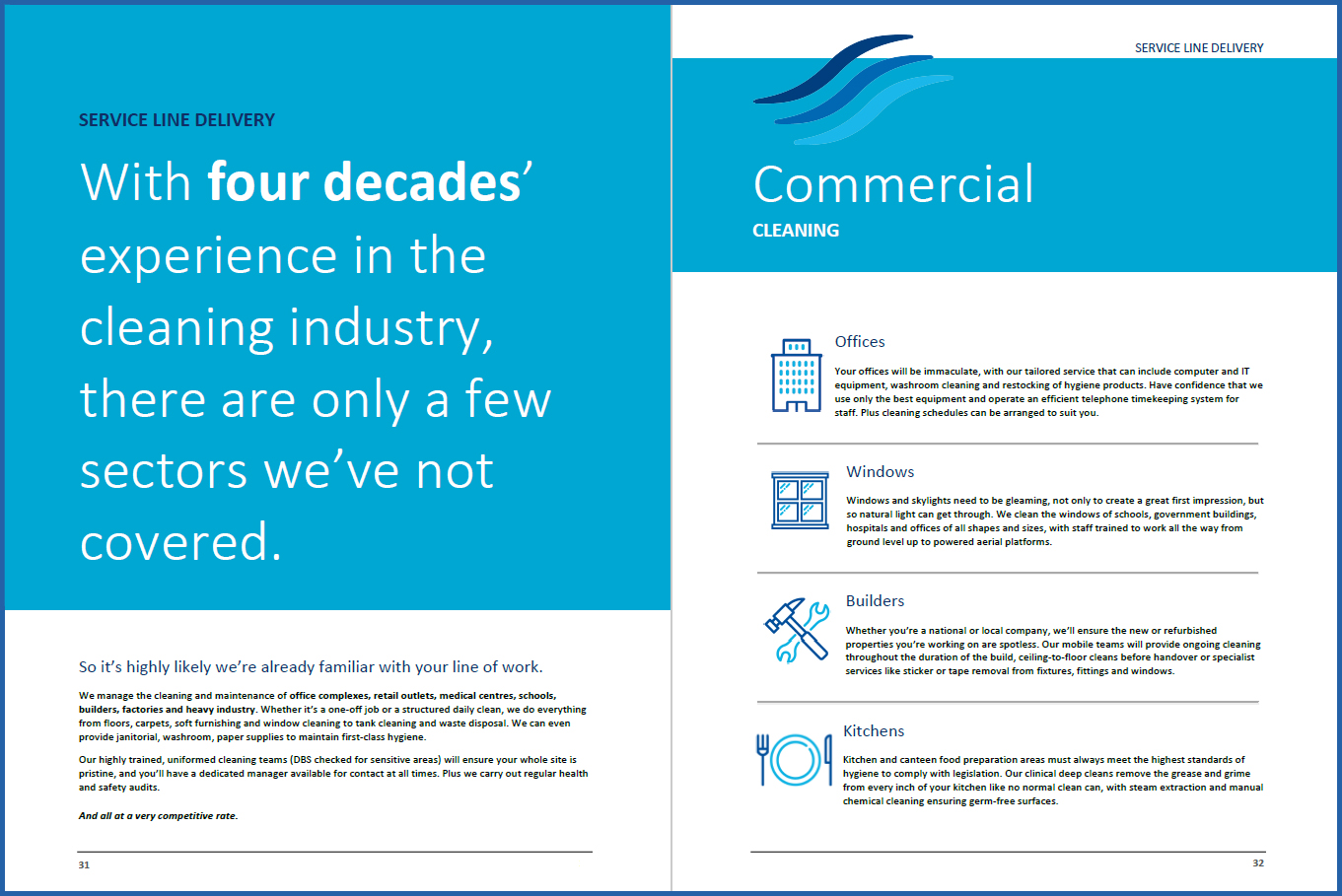 Associated Cleaning Contractors brochure   The Word Man